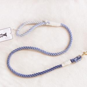 ombre krótka smycz ze sznura