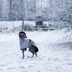 kurtka zimowa szara charcik