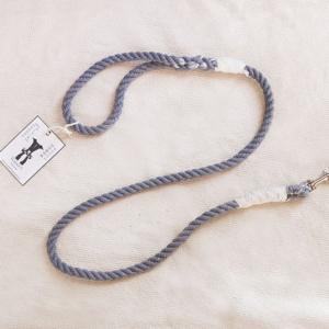 Krótka szara smycz ze sznura