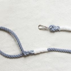 szara smycz ze sznura