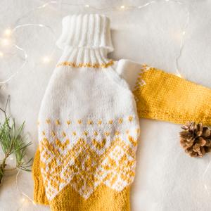 zółty sweterek charcik