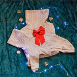 sweter zimowy zestwa dla psa i właściciela