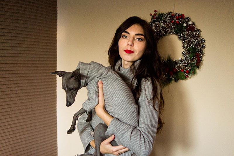 sweter zimowy zestaw dla psa i właściciela