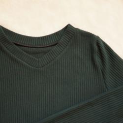 sweter zimowy zielony