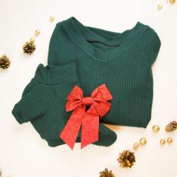 mini psy sweterek zimowy
