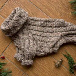 beżowy sweter dla charcika